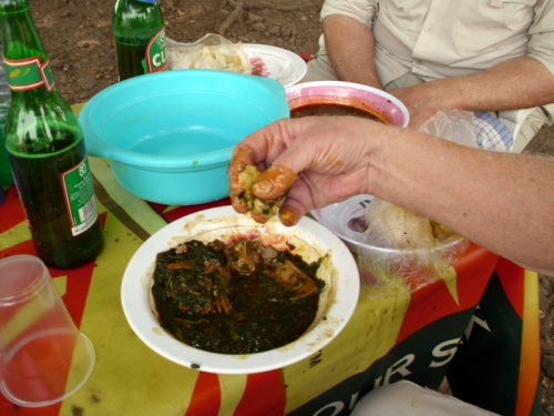 Okra Stew lunch in Ghana